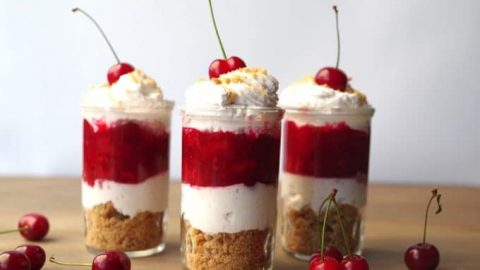 Cherry Pie Dessert Shots