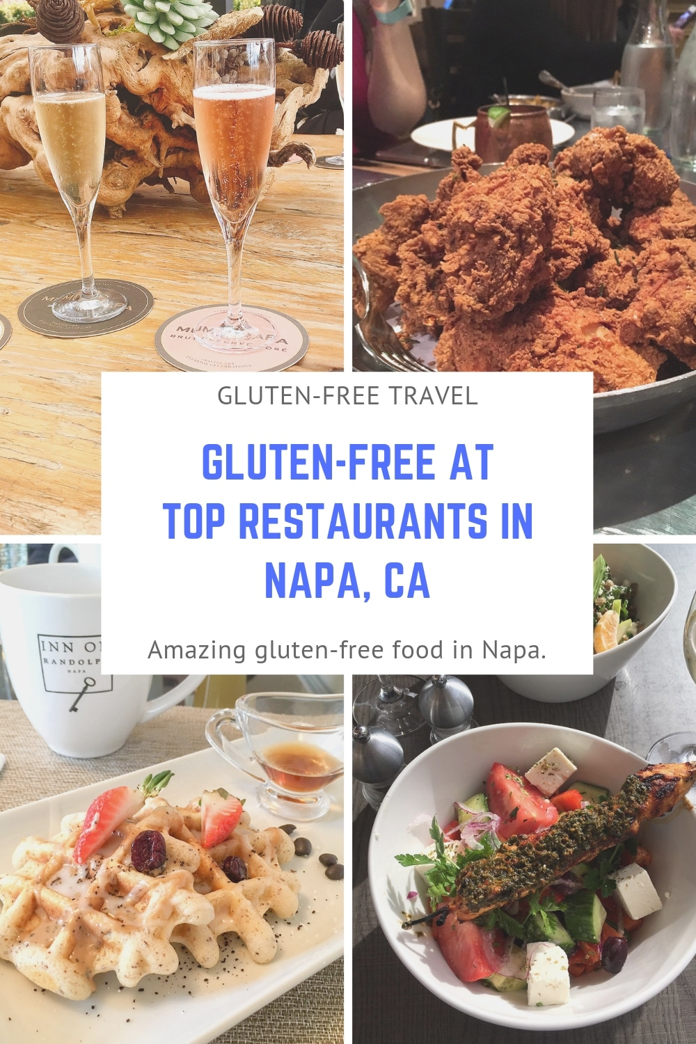 Enjoy amazing gluten-free foods at some of the top restaurants in Napa, CA.