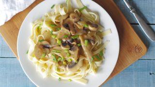 Gluten-Free Vegan Mushroom Stroganoff