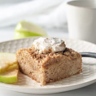 One bowl paleo apple cake that is tender, rich with apples and cinnamon, and simple to make.