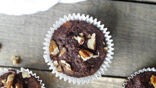 Paleo Chocolate Banana Nut Muffins