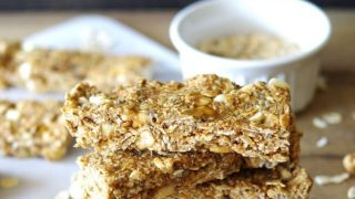 Gluten-Free White Chocolate Cashew Granola Bars