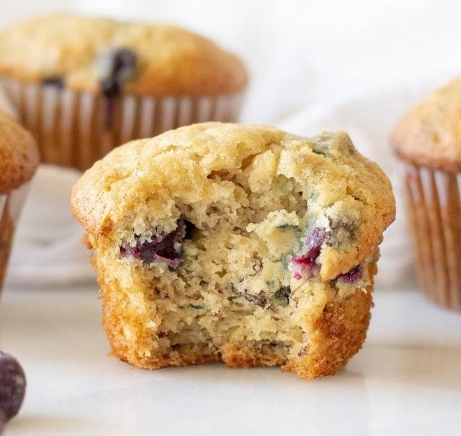 Best Gluten Free Blueberry Banana Muffins