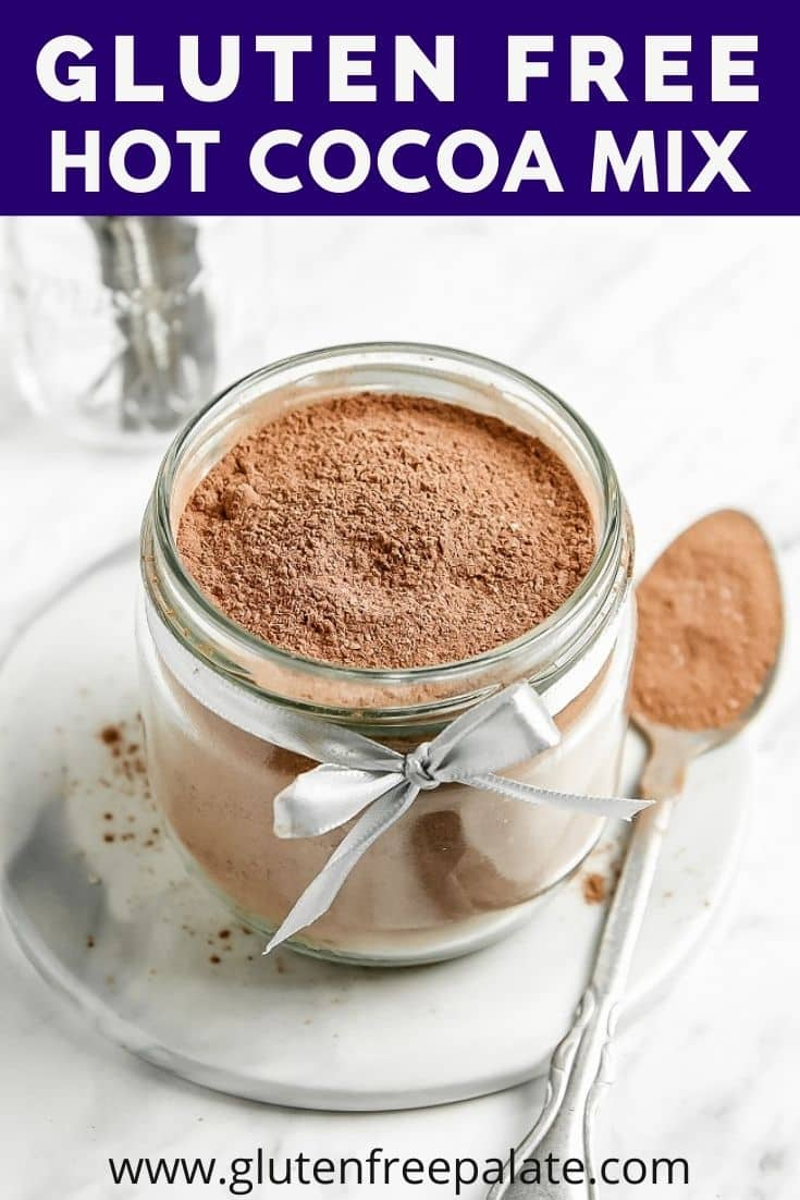 pinterest pin collage for gluten free hot cocoa mix