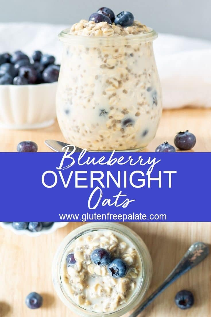Blueberry Overnight Oats are an easy, make ahead breakfast that pulls together in minutes. This quick, wholesome blueberry overnight oats recipe will satisfy your hunger and keep you full all morning.