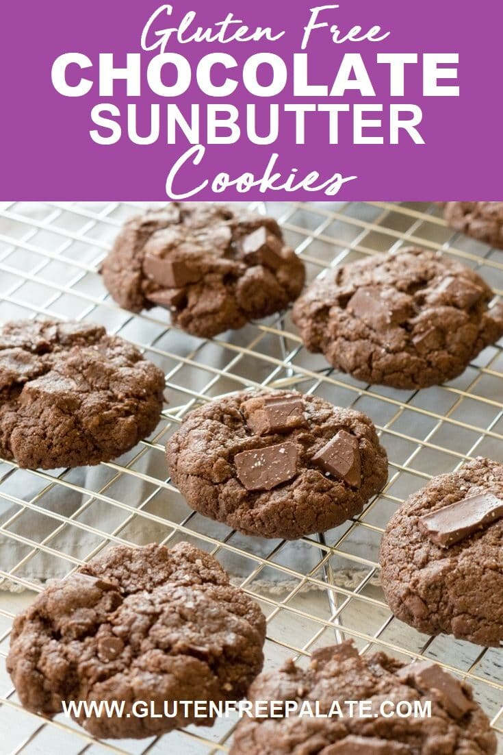 With only 6 ingredients, you can have soft, brownie-like sunbutter cookies. These chocolate sunbutter cookies are easy to make, healthy, and incredibly delicious.