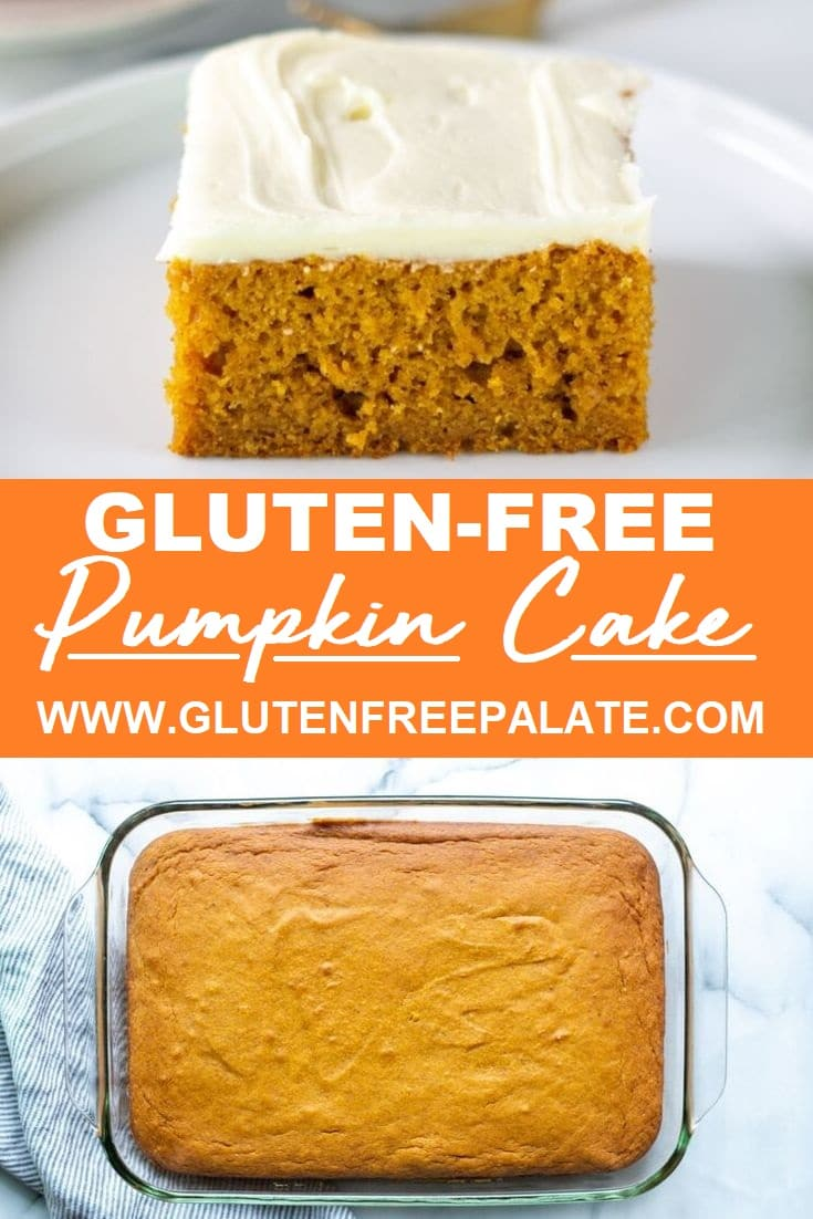 pinterest pin for gluten free pumpkin cake