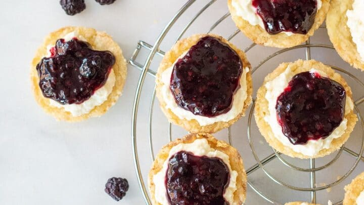 Gluten Free Lemon Blackberry Tarts