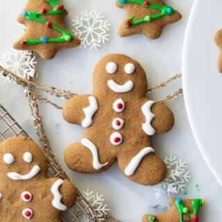 decorated gluten free gingerbread cookies with icing