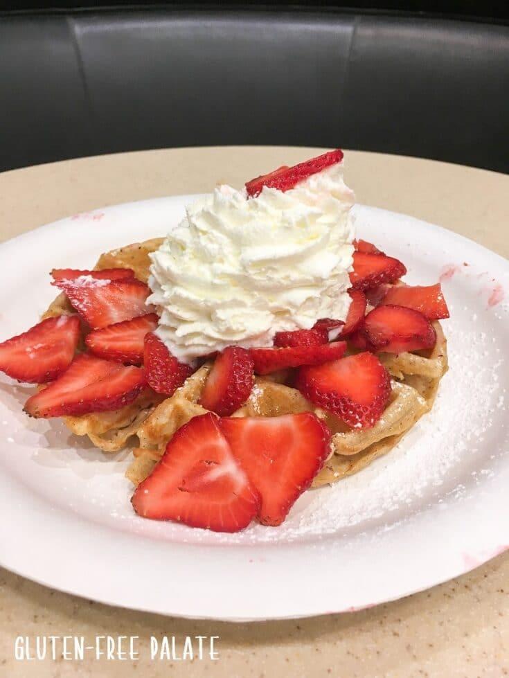 gluten free waffle on maui