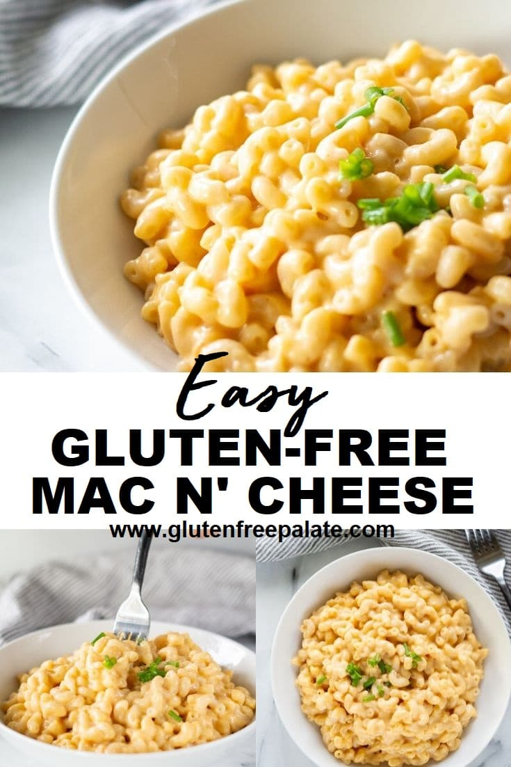 gluten free macaroni and cheese pinterest pin collage