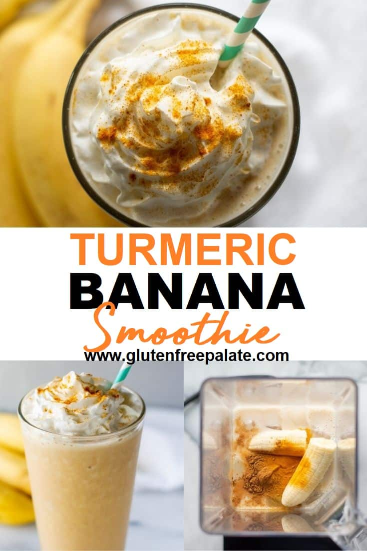 Turmeric Smoothie pinterest pin collage