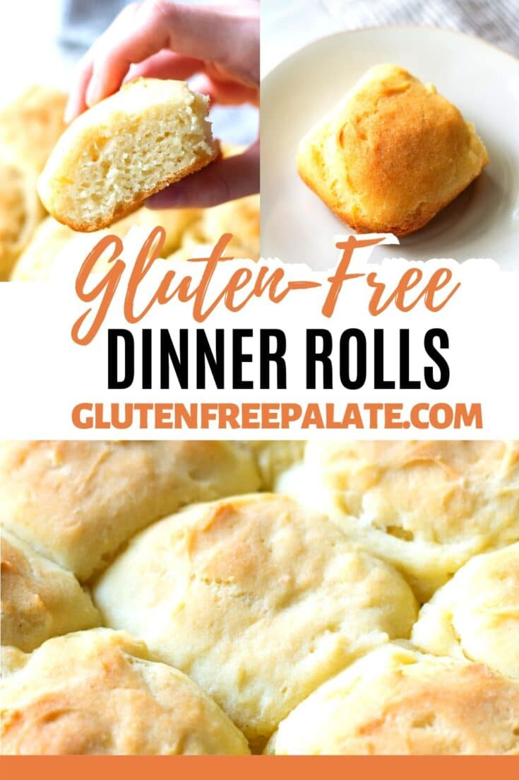 Tender, fluffy homemade gluten free rolls that are simple to make. These gluten free dinner rolls are naturally dairy-free and I've included a vegan option.