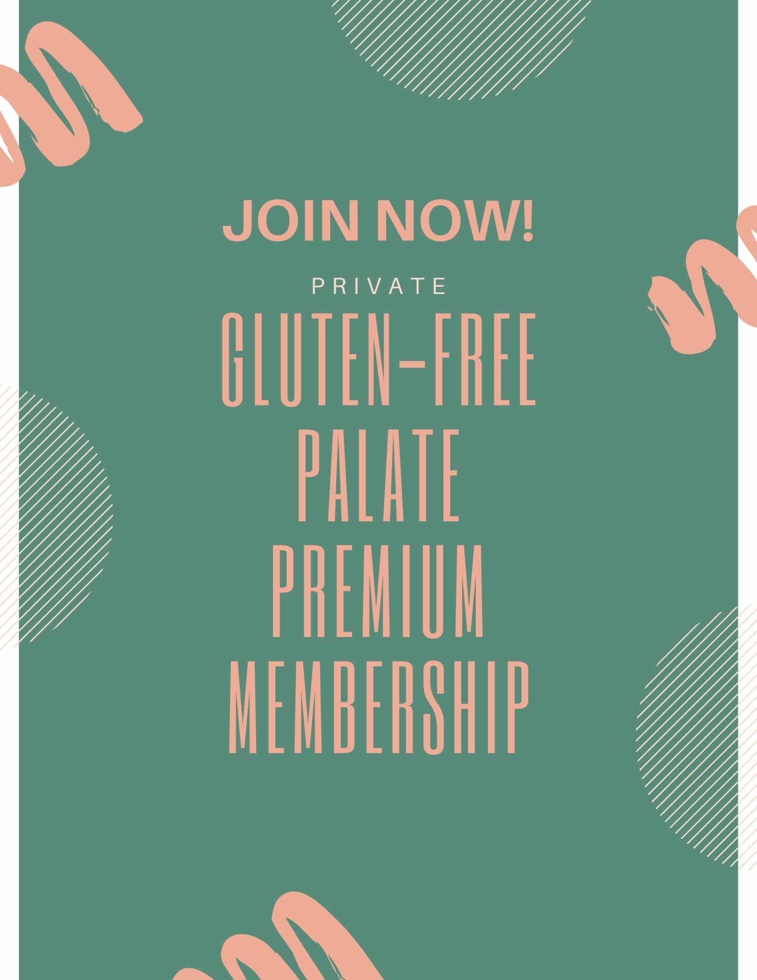Button to join gluten free palate premium membership program