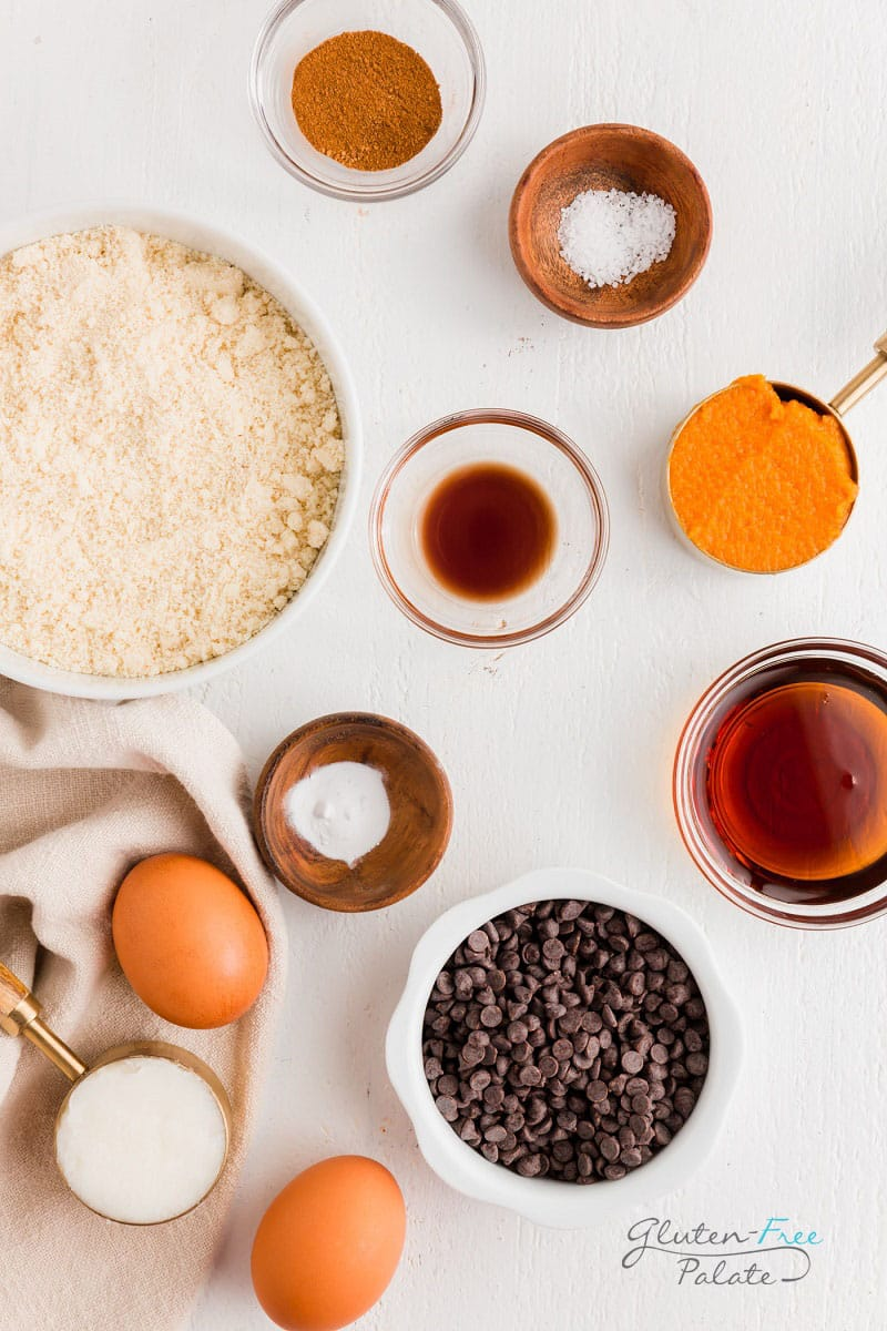 ingredients in paleo pumpkin bread