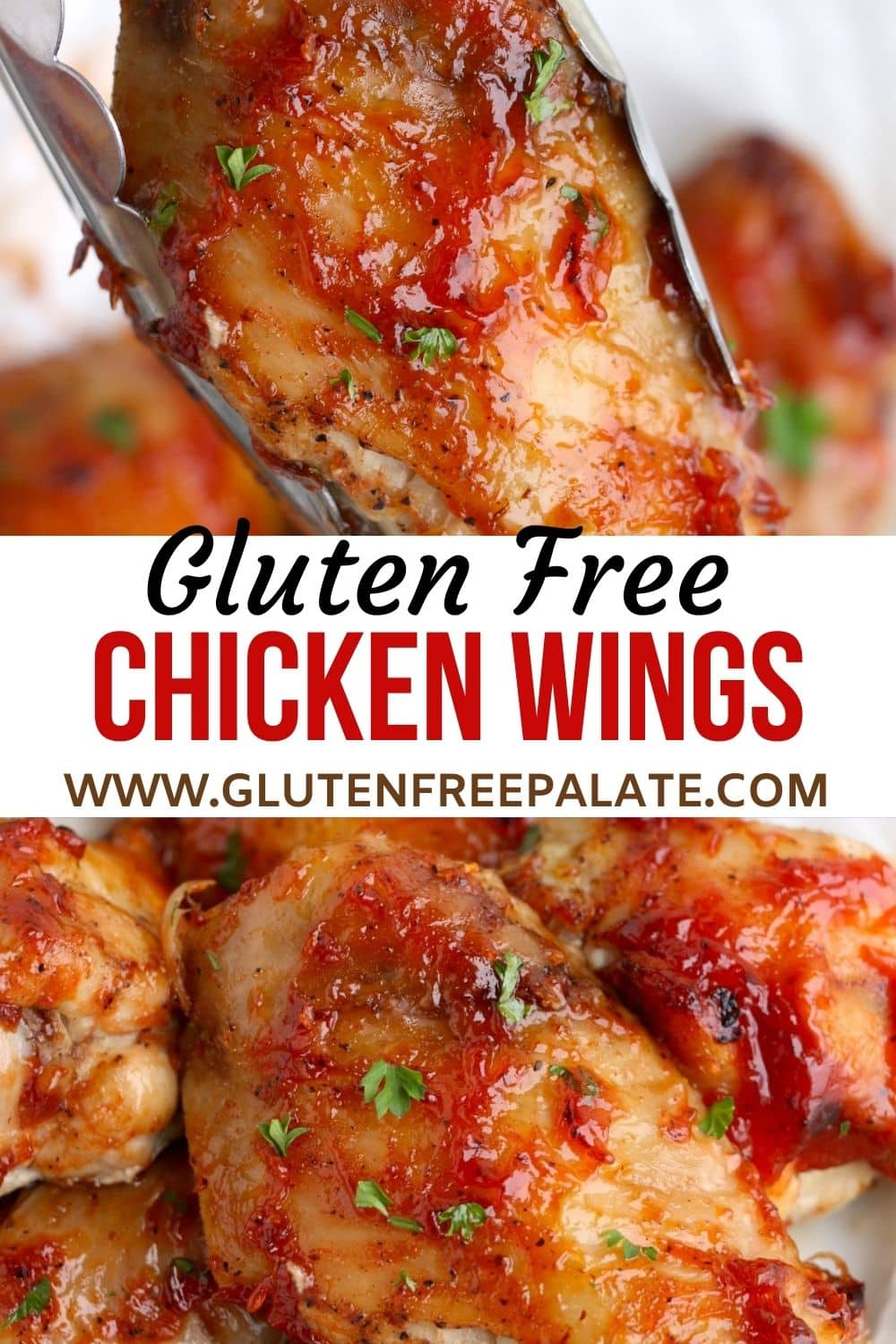 pinterest pin collage for gluten free chicken wings