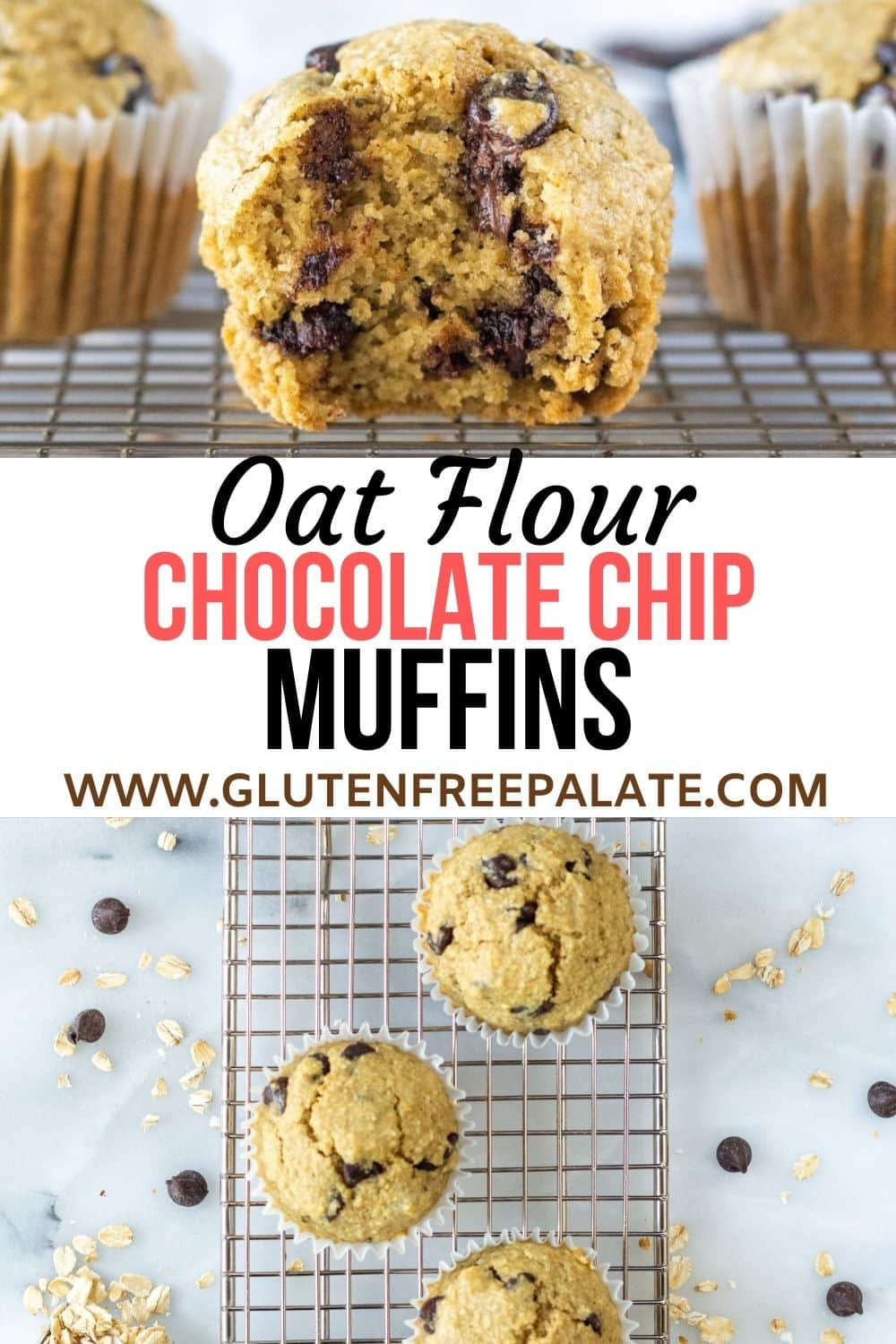 pinterest pin collage for oat flour muffins