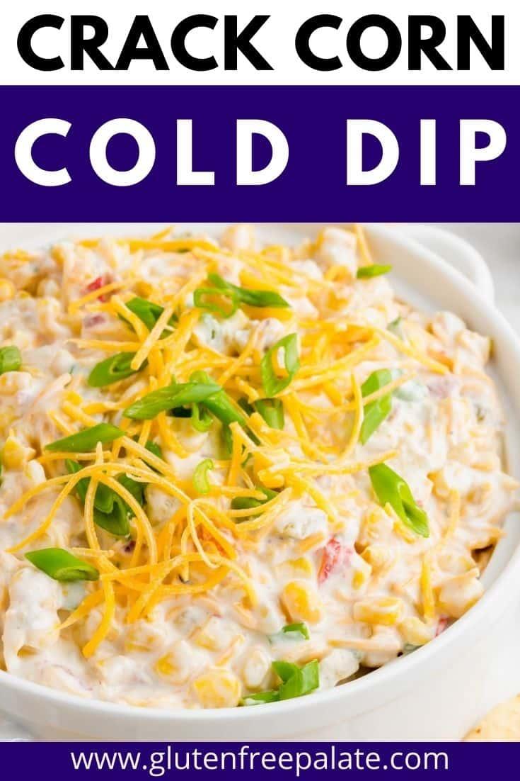 pinterest pin collage for crack corn dip