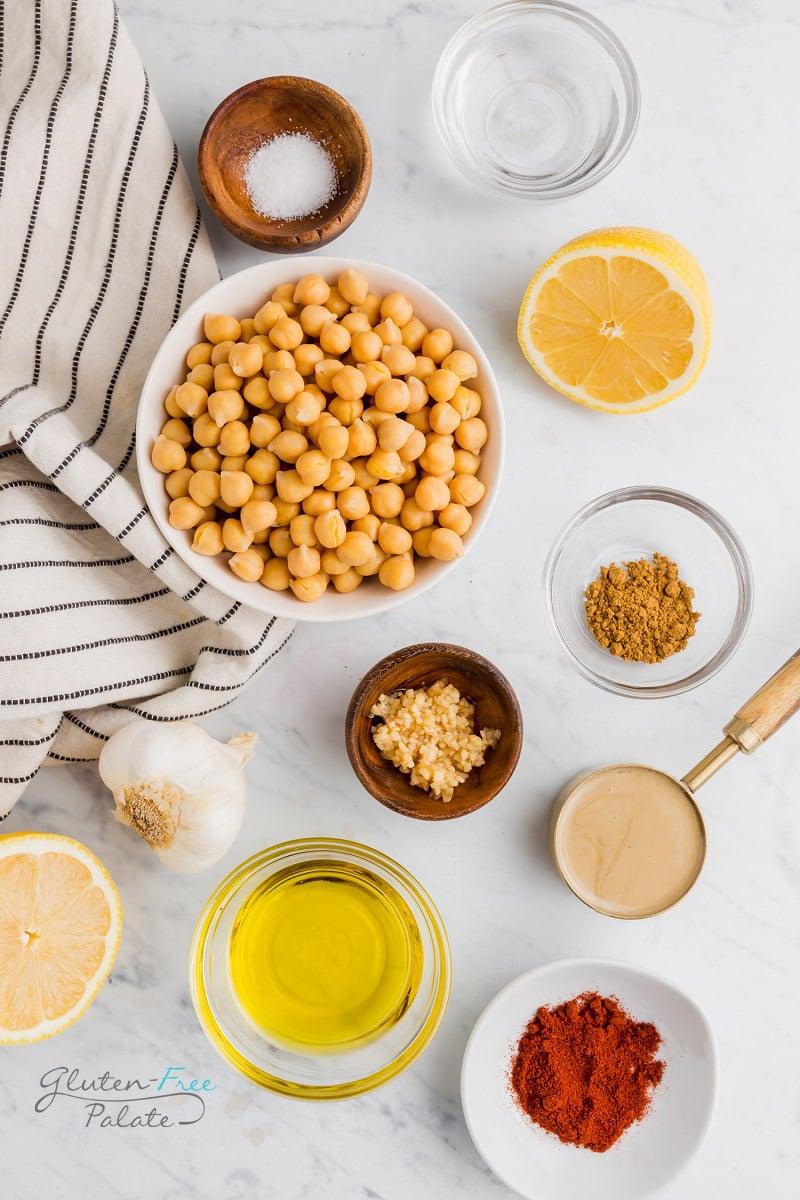 ingredients in gluten free hummus