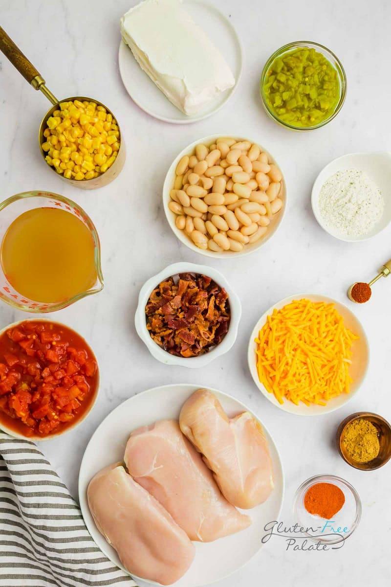 ingredients in crack chicken chili