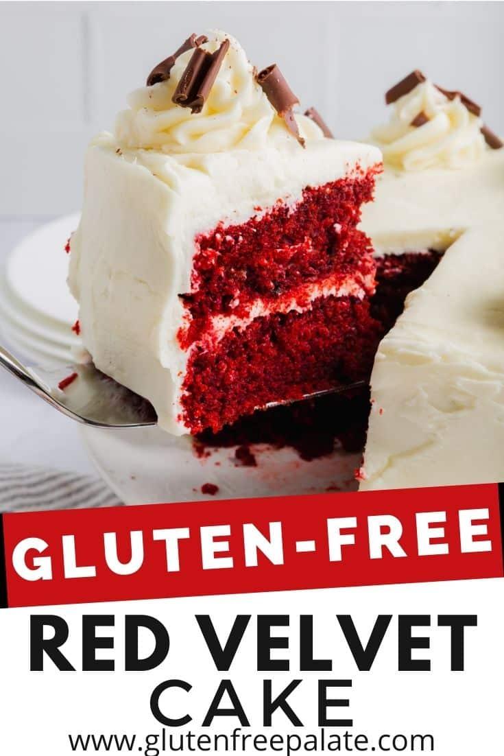 pinterest pin collage for gluten free red velvet cake