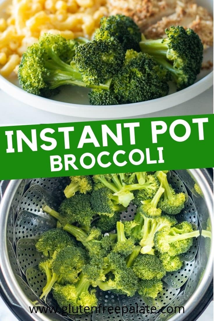 pinterest pin collage for instant pot broccoli