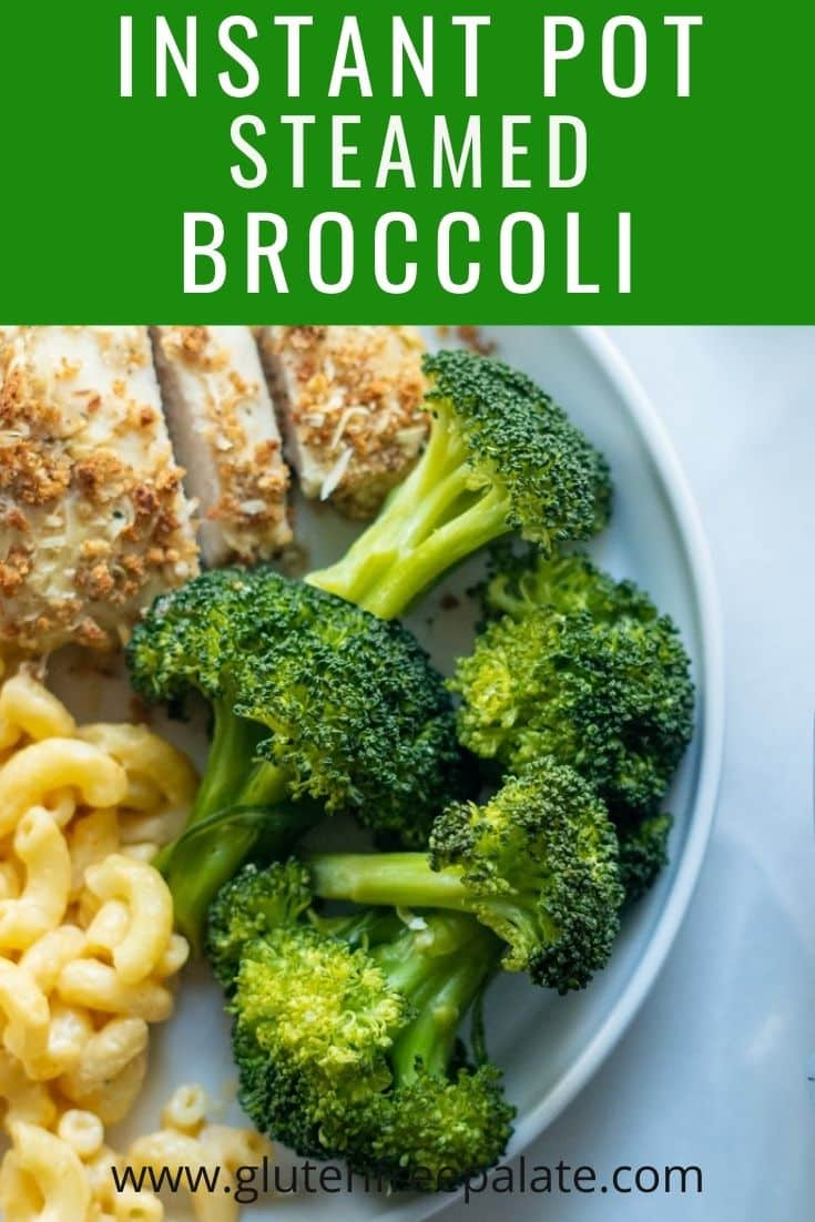 pinterest pin collage for instant pot steamed broccoli