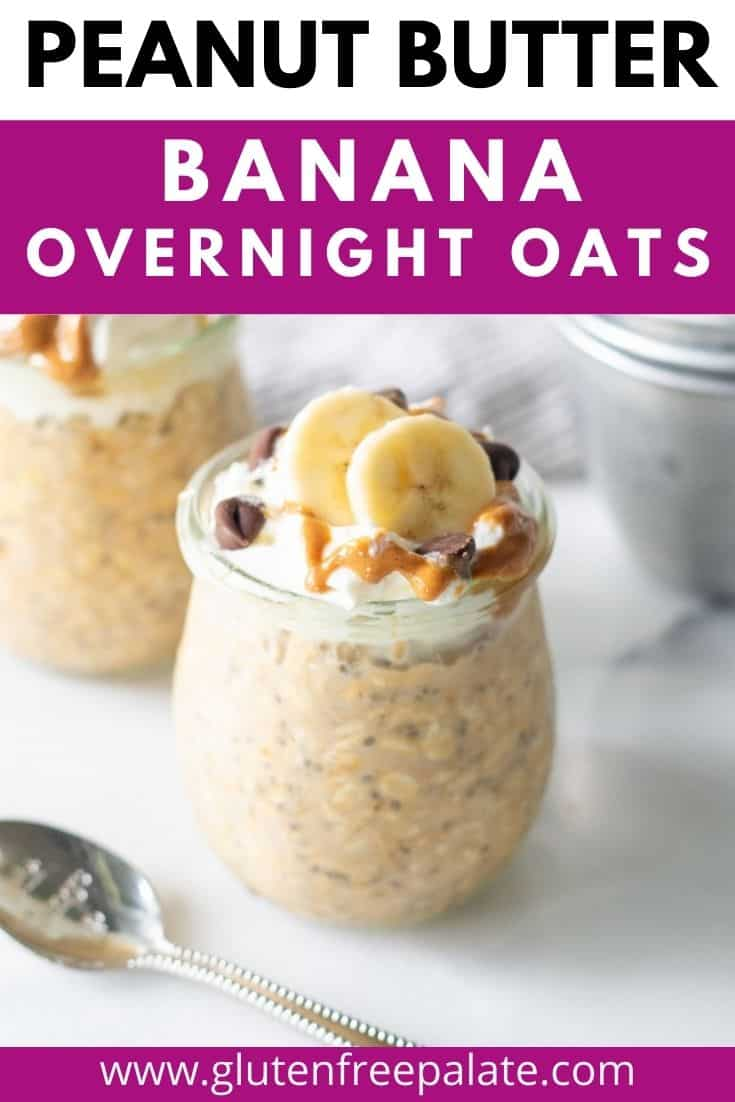 pinterest pin collage for peanut butter overnight oats
