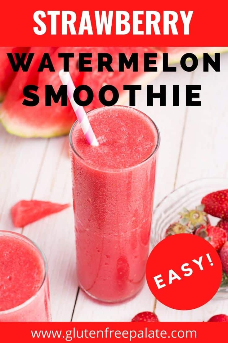 pinterest pin collage for watermelon smoothie